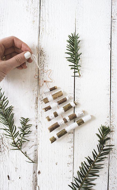 DIY rustic tree decoration