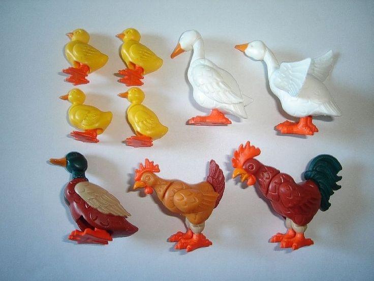 Kinder Surprise Set Poultry Animals 2000 Lego Style Toys Figures | eBay
