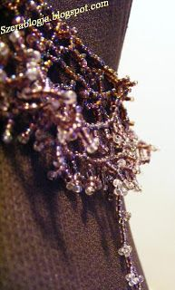 Beads neclace, Purple Corals Embrace