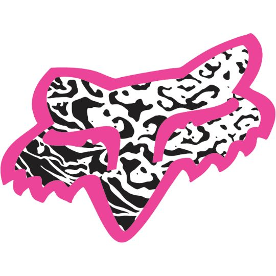 fox racing pink.black,and white sticker