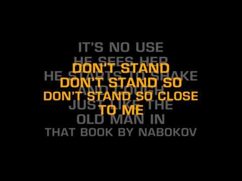 The Police-Don't Stand So Close To Me (Karaoke)
