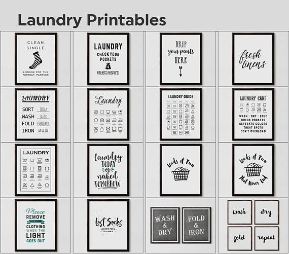 Laundry Guide Laundry Cheat Sheet Laundry Symbols Printable Etsy