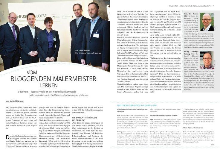 """Darmstädter Magazin """"Wirtschafts Echo"""", titelt: """"Vom bloggenden Malermeister lernen"""" :-)"""
