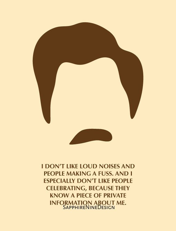 Parks and Rec  Ron Swanson  Birthday Card  by SapphireNineDesign