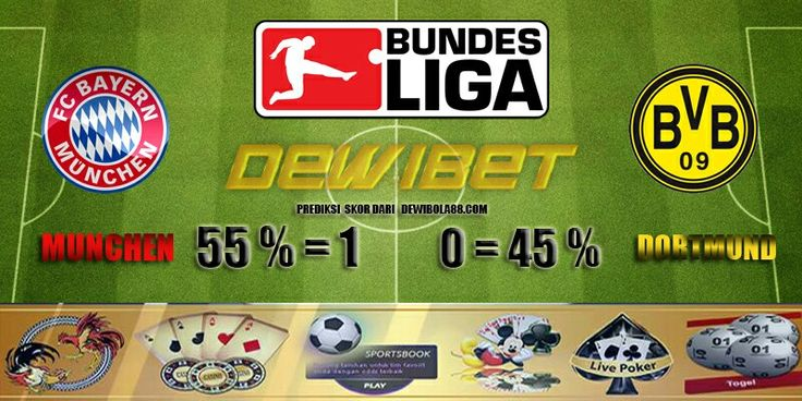 GERMANY BUNDESLIGA Munchen vs Dortmund Prediksi Bola http://www.dewibola88.com Gmail        :  ag.dewibet@gmail.com YM           :  ag.dewibet@yahoo.com Line         :  dewibola88 BB           :  2B261360 Path         :  dewibola88 Wechat       :  dewi_bet Instagram    :  dewibola88 Pinterest    :  dewibola88 Twitter      :  dewibola88 WhatsApp     :  dewibola88 Google+      :  DEWIBET BBM Channel  :  C002DE376 Flickr       :  felicia.lim Tumblr       :  felicia.lim Facebook…