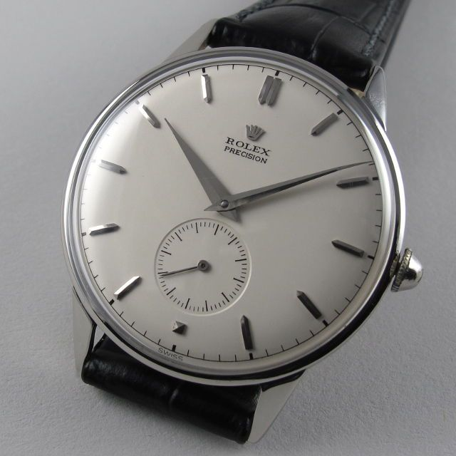 Steel Rolex Precision Ref. 4357 vintage wristwatch, circa 1950. A large steel manually wound wristwatch with calibre 700 movement.