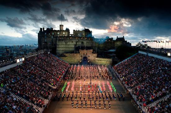 Edinburgh, military tattoo-- who doesn't love a great tattoo?