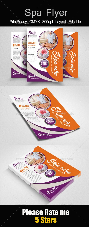 Best Spa Flyer Images On   Font Logo Fonts And