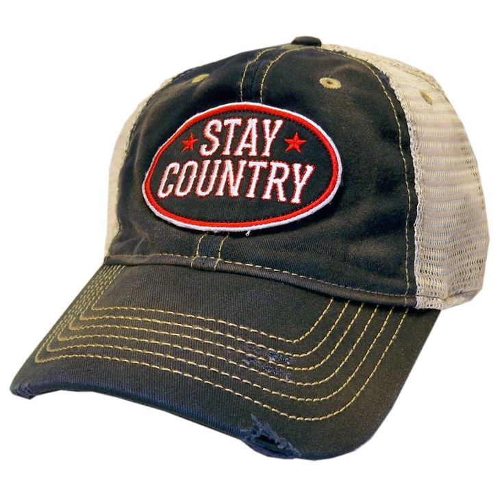 Dustin Lynch Stay Country Navy and Khaki Distressed Ballcap - Dustin Lynch Store