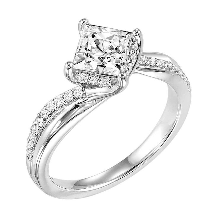 Twisted Princess cut Diamond Ring Awesome Jewelry Pinterest