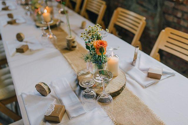 Tischdekoration Hochzeit rustikal