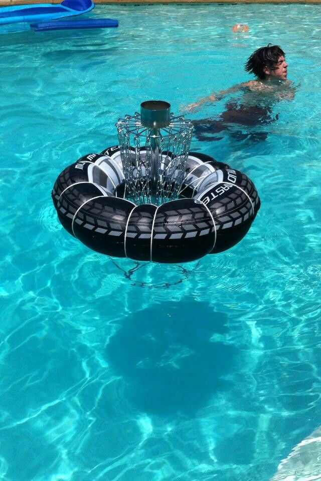 Disc golf--Neat idea to keep cool during these hot summer Southern summers.