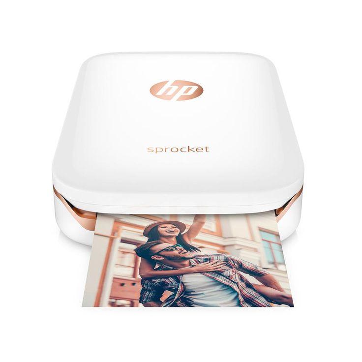Amazon.com: HP Sprocket Portable Photo Printer, print social media photos on 2x3 sticky-backed paper - white (X7N07A): Electronics