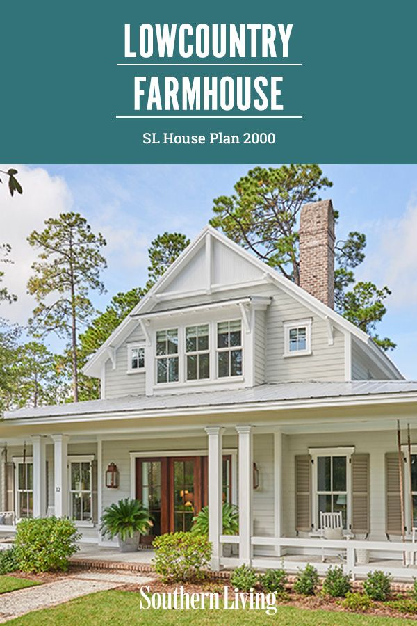 Lowcountry Farmhouse House Plan Country Cottage House Plans Southern House Plans Cottage Style House Plans