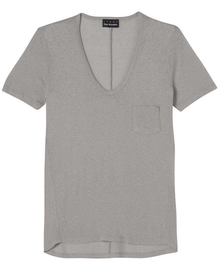 The Kooples T-shirt en bourettes de soie avec poche poitrine - T-shirt