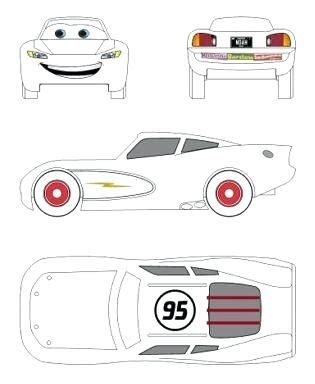 Image Result For Lightning Mcqueen Car Cake Template Free