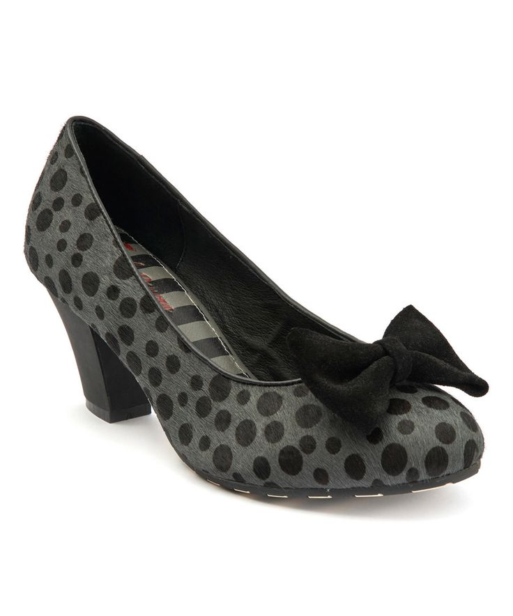 Look at this Lola Ramona Black Dotted Elsie Calf Hair Pump on #zulily today!