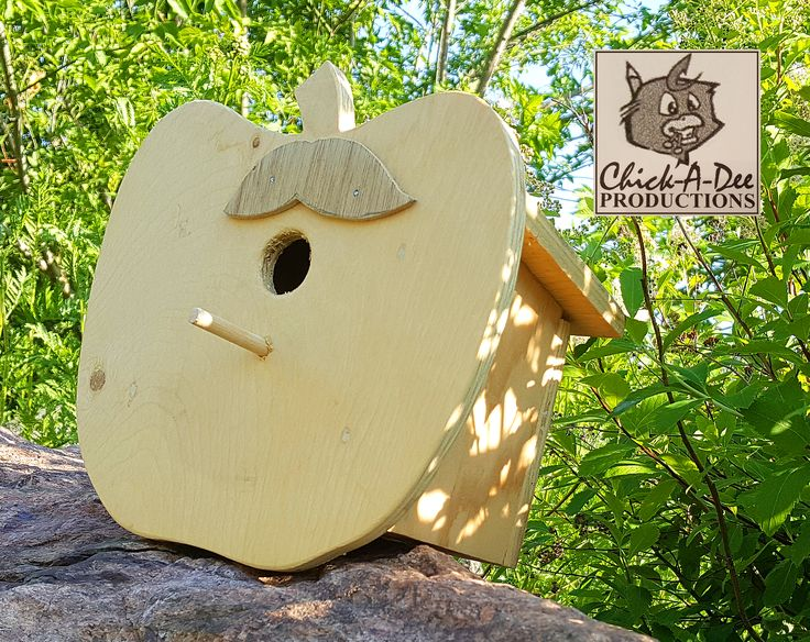 Apple Shaped Birdhouse:  I'm ripe for the picking! ;) Click me for more info.