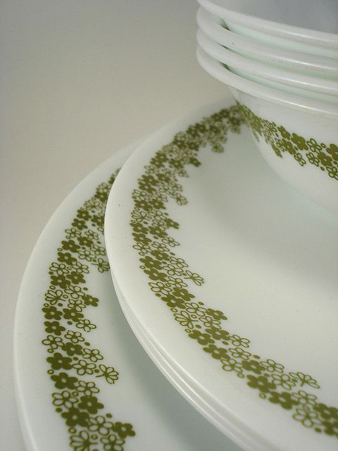 Corelle Dinnerware....this was my first set of dishes after I graduated from high school and had my own place!