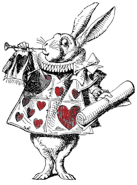 The white Rabbit Alice in Wonderland Temporary Transfer Tattoo