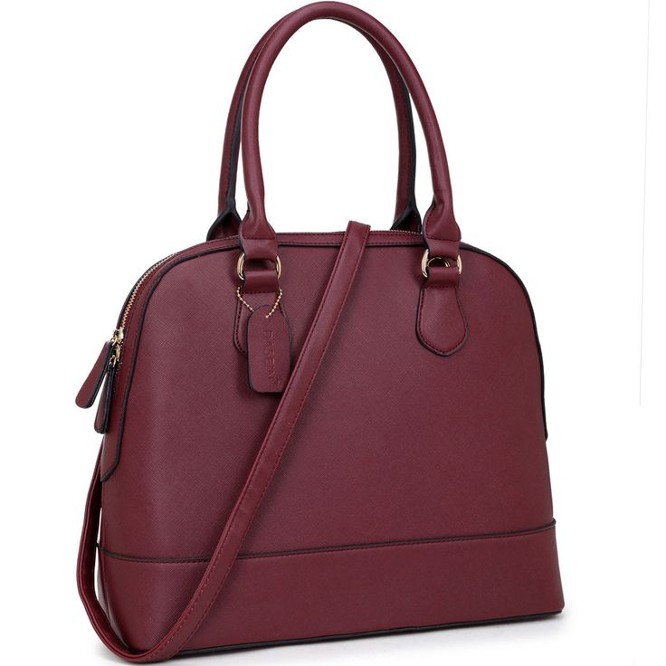 Designer Inspired Saffiano Deep Dome Satchel Handbag | The Wanted Wardrobe Boutique