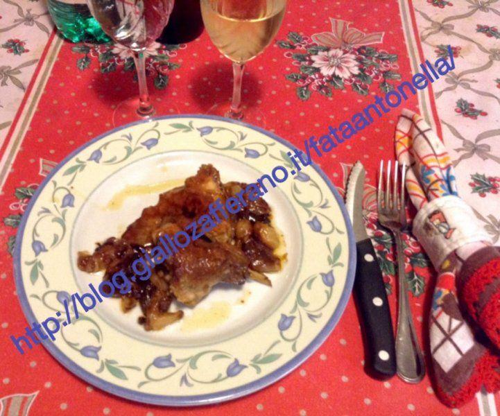 Coniglio su base di cipolle, ricetta - http://blog.giallozafferano.it/fataantonella/