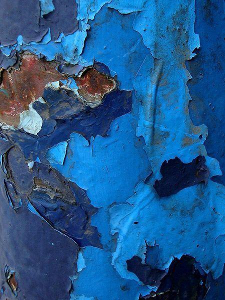Blue and rust #blue #indigo