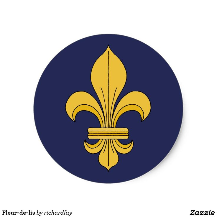 SOLD 11/20/2016 through Zazzle to a customer in Lincoln, England: one sheet of Fleur-de-lis Classic Round Stickers.  #sold #zazzle #stickers #fleur_de_lis #heraldic_lily #lily