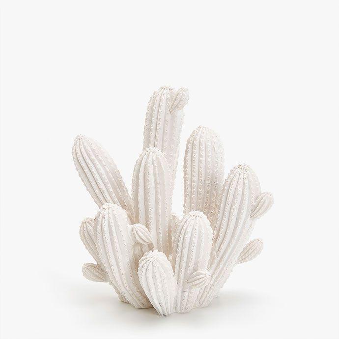 Imagen del producto figura decorativa cactus blanco zara - Zara home canarias ...