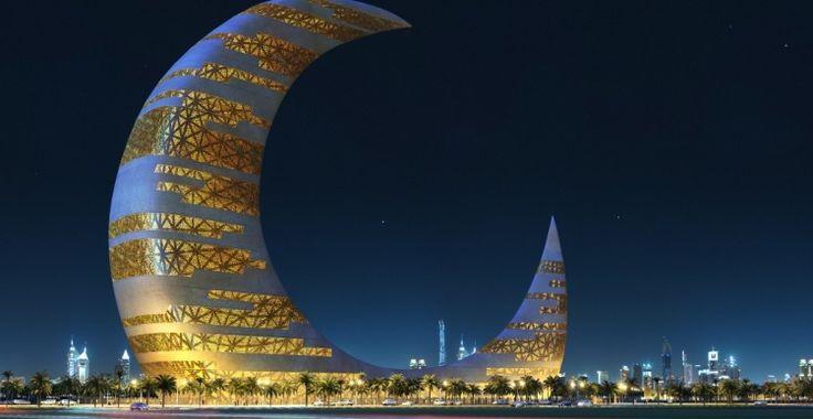 Crescent Moon Tower concept - Dubai | Architect: Transparent House - http://www.transparenthouse.com/main/#/en/0/1