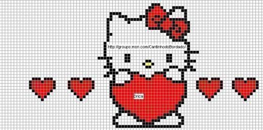 ♥ cross stitch ♥: Hello Kitty - several Hello Kitty charts at this site