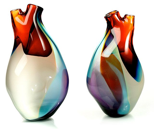 """""""Ventricle Vessel"""" is a heart shaped, glass vase, designed by Eva Milinkovic.  I think I LOVE this!"""