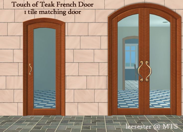 Mod The Sims - 1 Tile French Door Maxis Match