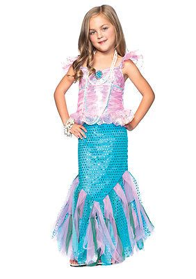 Little Girls Magical Mermaid Ariel Dress Outfit Toddlers Kids Halloween Costume | eBay