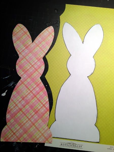 so cute....free bunny template >>>Spring