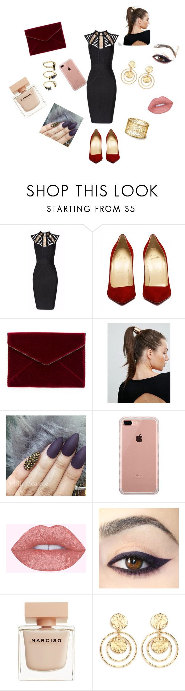 """""""Untitled #2"""" by evellyn-ferreira ❤ liked on Polyvore featuring Posh Girl, Rebecca Minkoff, Johnny Loves Rosie, Belkin, Narciso Rodriguez, Kenneth Jay Lane and Noir Jewelry"""