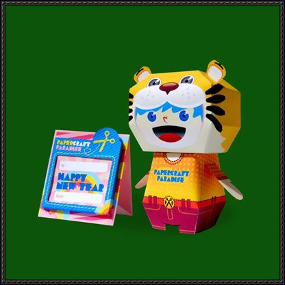 Tiger Year Calendar Free Paper Toy Download - http://www.papercraftsquare.com/tiger-year-calendar-free-paper-toy-download.html