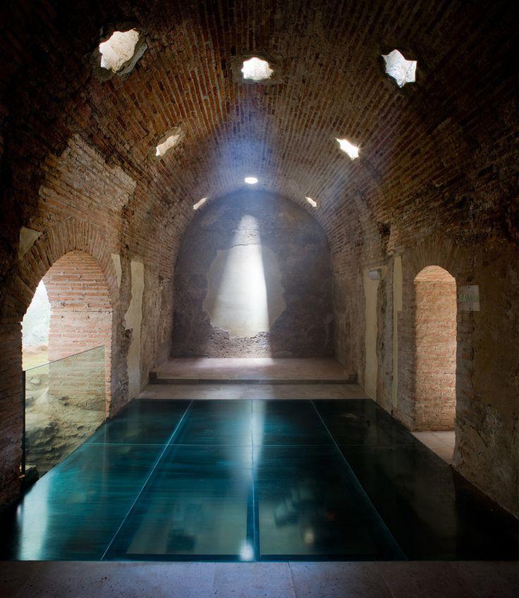 subtilitas:  Ibáñez Arquitectos - Historic renovation of the Arab Baths in Baza, 2004. Via.