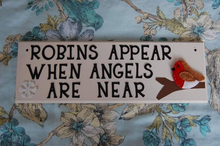 Custom Robins appear when Angels are near sign plaque. Any colours, can be personalised. Robin plaque sign Angel plaque memorial in memory by FairylandDecor on Etsy