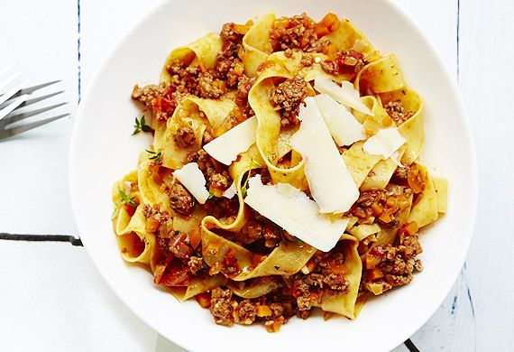Olivia Andrews's lamb and thyme pappardelle for Marley Spoon.