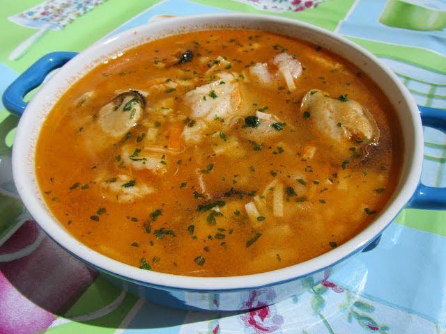 Sopa De Pescado Rápida Y Económica Cocina Tradicional Atıştırmalıklar Recetas De Sopa De Pescado Pescado Thermomix Sopa De Pescado