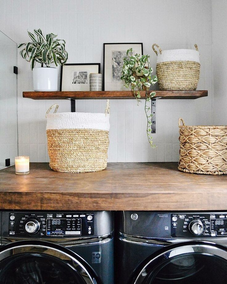 Woven 3 Piece Wicker Basket Set With Images Modern Laundry