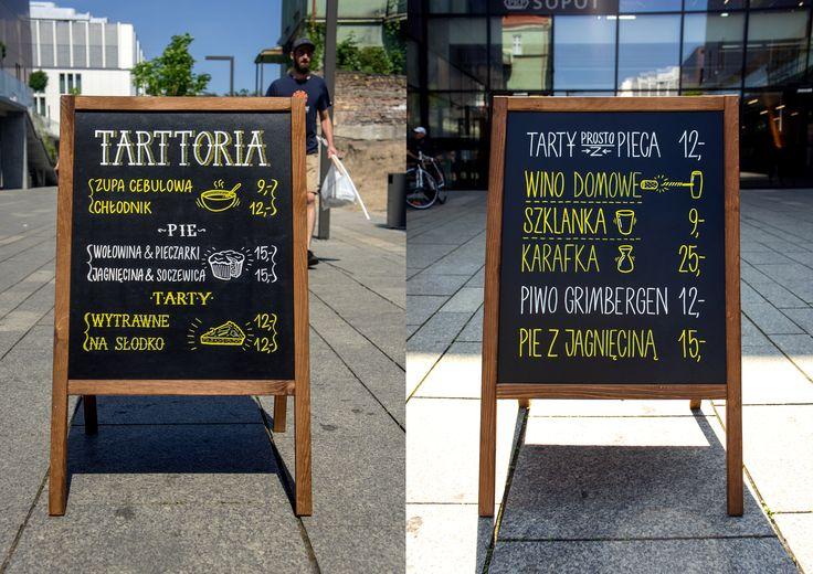 Acrylic markers menu at Tarttoria, Sopot, Poland by Aleks Skrok