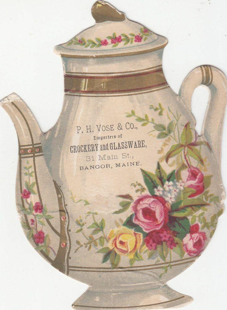 Crockery Glassware Bangor Maine Teapot Ephemera And