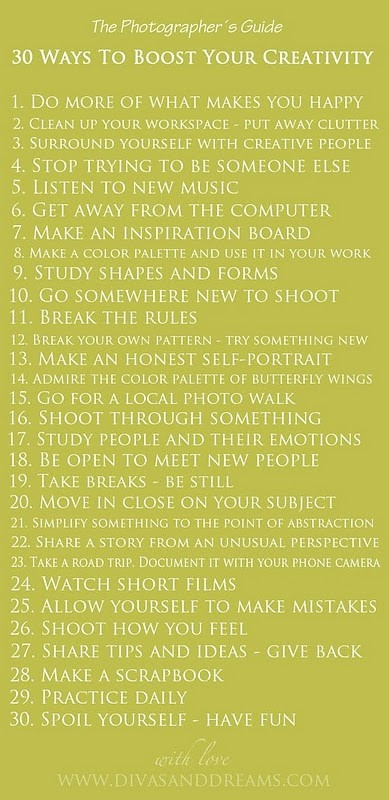 30 ways to boost your creativity a word of wisdom pinterest