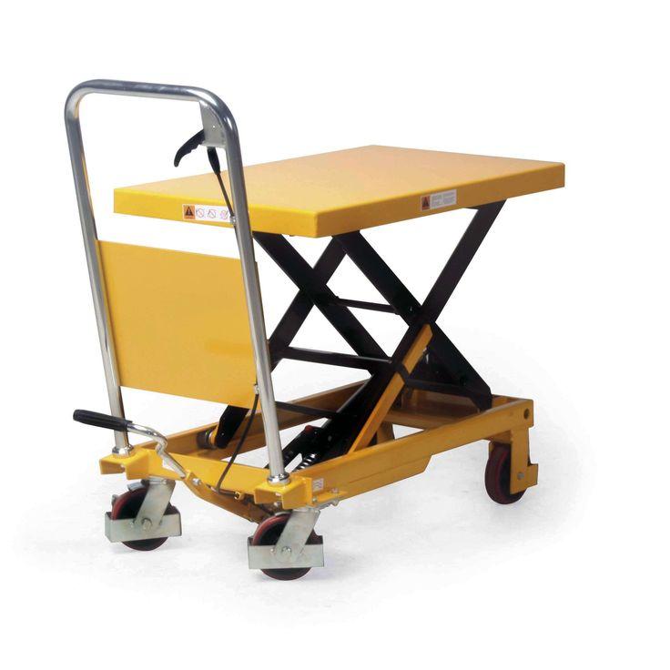 GTARDO.DE:  Scheren-Hubtischwagen, Tragkraft 300 kg, Hubhöhe 340-900 mm, Ladefläche 855x500 mm 302,00 €