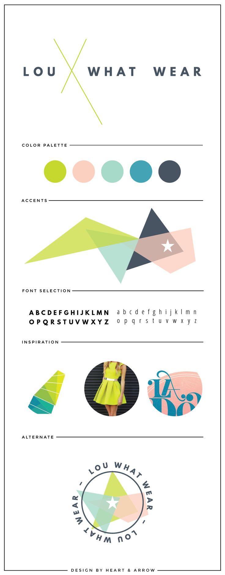 Bright retro logo and brand design // by Heart & Arrow