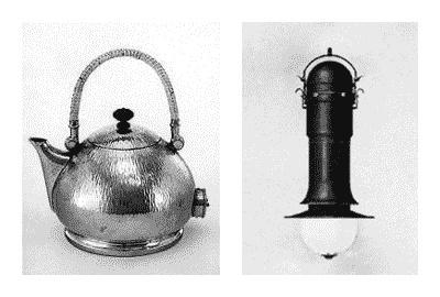 Петер Беренс. Электрический чайник, 1910 г. Энергосберегающая дуговая лампа, 1917 г. веркбунд