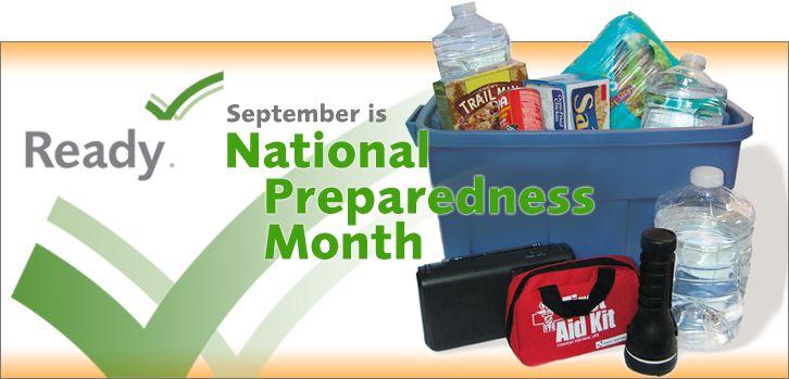 September is National Preparedness Month!
