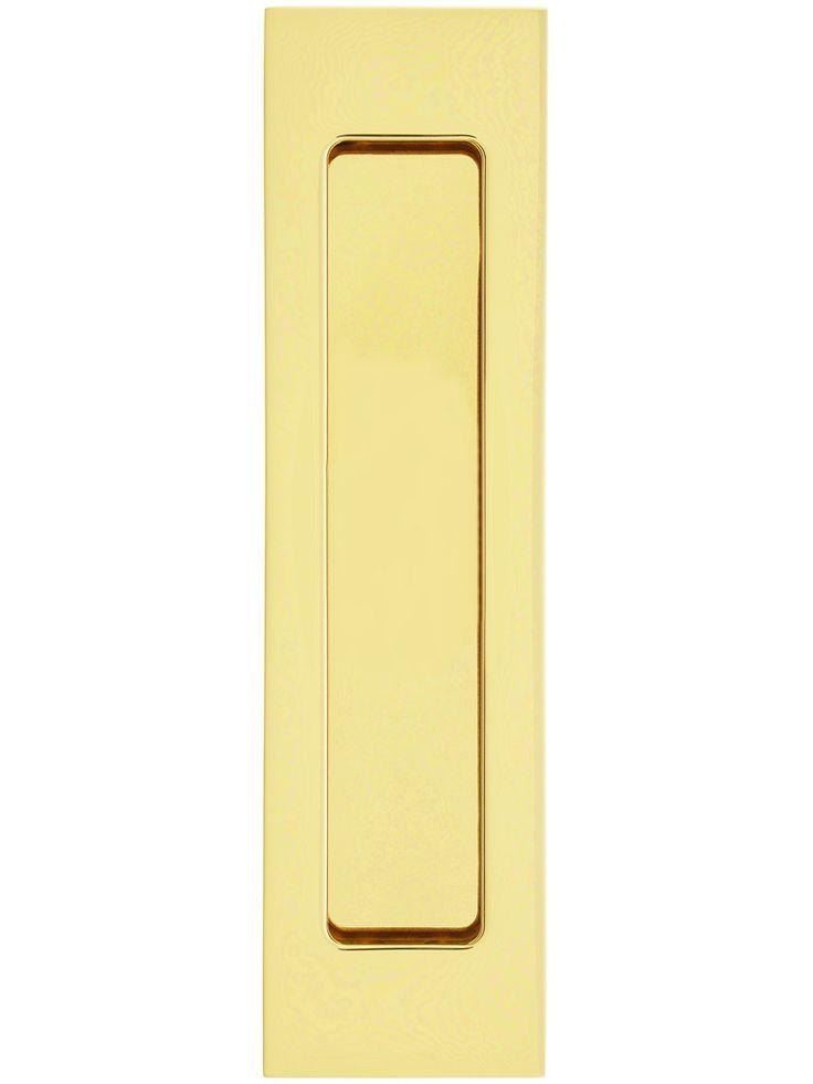 7 Quot New Yorker Narrow Rectangular Pocket Door Pull With